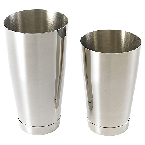 Barfly M37009 Shaker Cocktail Tin Set, 18 oz and 28 oz), Stainless Steel