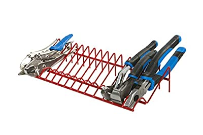 Olsa Tools | Pliers Holder Rack & Organizer For Tool Box Drawer Storage | Holds 16 Pliers | Red