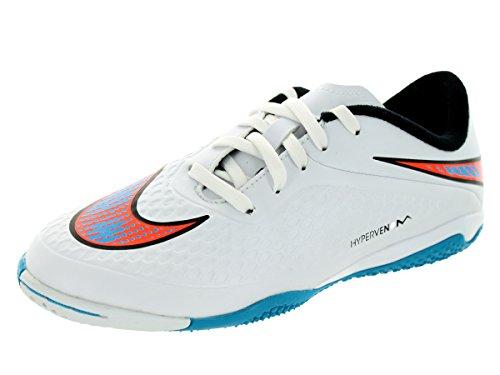 Nike Jr Hypervenom IC Jungen Fußballschuhe Weiß (white-blue lagoon-total crimson-black 148)