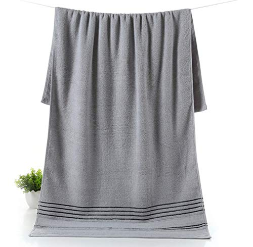 White 100% Cotton Bath Towel Jacquard Sheared Striped Kids Adults Face Towel Soft Yarn Dyed Absorbent Beach Towels,Light Grey,74x34cm