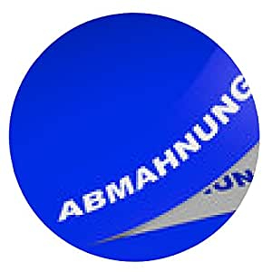 alfombrilla de ratón etiqueta azul 3D - advertencia - ronda - 20cm
