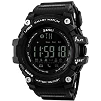SKMEI 1227 Smart Watch Fitness Tracker with Call & Message Notification Pedometer Watch - Black