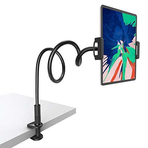 Gooseneck Tablet Mount Holder for Bed - Lamicall Flexible Tablet Arm Clamp