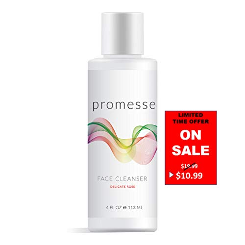 promesse | Spa Quality Daily Facial Cleanser for Acne Prone & Oily Skin. Anti-Aging, Mild Foaming Cleansing Gel + Face Wash with Salicylic/Glycolic/Lactic acid combined. Made in USA.