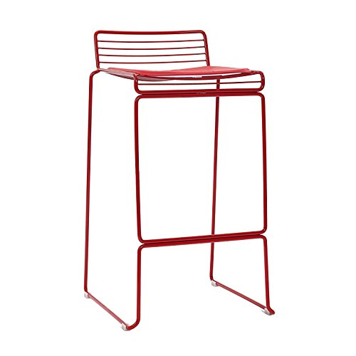 Creative Bar Stools, Iron Stools Lounge Stools / High Chair Stools ( Color : Red ) by Xin-stool