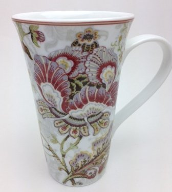 Amazon.com | 222 Fifth Gabrielle Cream Fine Porcelain Tall Latte ...
