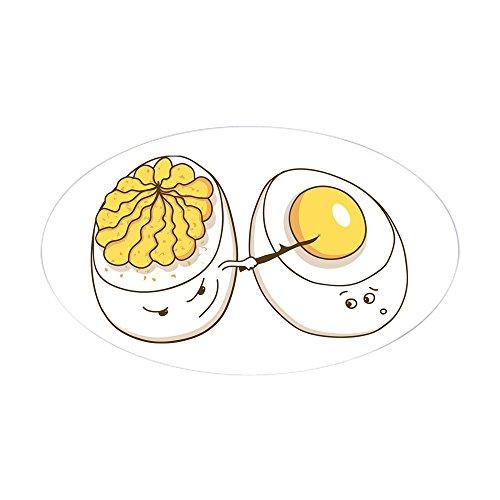 CafePress - Deviled Eggs Oval Sticker - Oval Bumper Sticker, Euro Oval Car Decal (Deviled Eggs Unique)