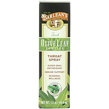 Barlean's Organic Oils Olive Leaf Complex Throat Spray, 1.5-Ounces