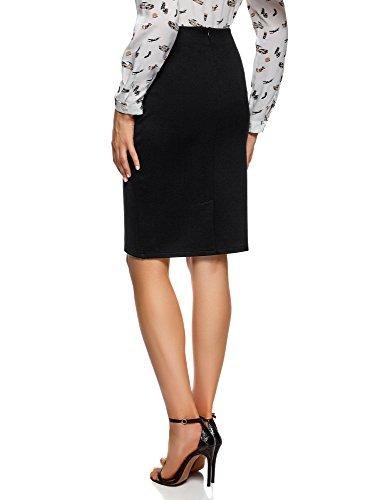 Collection Femme Maille 2900n Noir en Jupe oodji Fente avec dFOpqwc5d