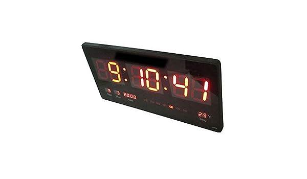 DOBO® Reloj Digital de Pared con luz LED de Pared Plato de Slim para Oficina casa extraplano Simple Referencia Fecha Temperatura Hora: Amazon.es: Hogar