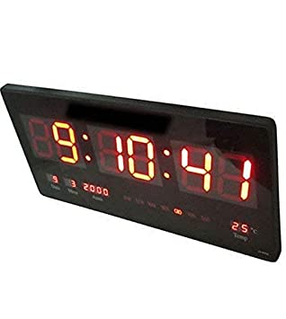 DOBO® Reloj Digital de Pared con luz LED de Pared Plato de Slim para Oficina casa extraplano Simple Referencia Fecha Temperatura Hora: Amazon.es: Hogar