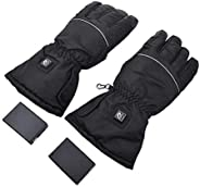 Heated Gloves | USB Heating Gloves Rechargeable | Waterproof Thermal Gloves Touch Screen Gloves for Skiing Cam