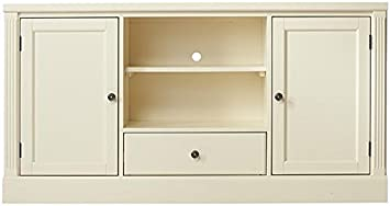 Edinburgh Tv Stand, 30 Hx57 Wx113.75 D, IVORY
