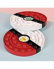 2St Pokemon Poke Ball Pikachu Push Pop Fidget Leksaker För Vuxna Barn Squishy Stress Reliever Autism Behov Squeeze Leksaker 13,5 Cm Opo Väska Förpackning
