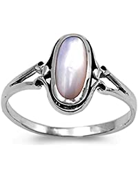 CHOOSE YOUR COLOR Sterling Silver Long Ring