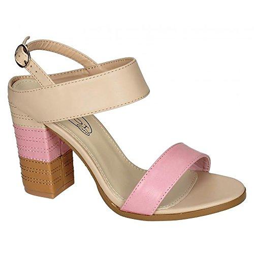 Heels Ladies Spot Genähte Schnalle Ankle On High Gelb Womens H0qw6FOP