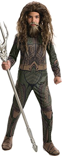 [Rubie's Costume Boys Justice League Aquaman Costume, Medium, Multicolor] (Aquaman Costume For Kids)