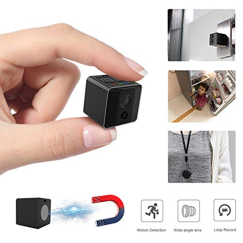 Ehomful Mini Spy Camera,Hidden HD 1080P Body Camera with Magnet Portable Spy Cam Supports Night Vision/Motion Detection/Snap Photo for Home Security Monitoring Nanny Cam For Sale