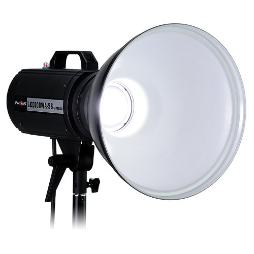 Fotodiox Pro LED100WA-56 Daylight Studio LED, High-Intensity LED Studio Light for Still and Video - with Dimmable Control, 12V AC Power Adapter, Light Stand bracket, CRI > 85 by Fotodiox
