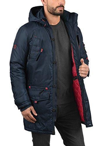 Homme Avec Faux solid Longue Parka Veste Blue Pour Fur À 1991 Capuche D'hiver Insignia Manteau Betto raAqn7xqXY