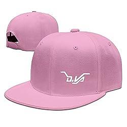 CEDAEI D.VA LOGO Over First-person Shooter Video Game Watch Flat Bill Snapback Adjustable Running Hat Pink