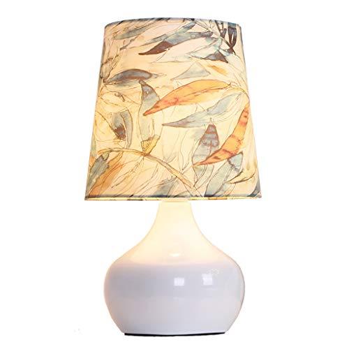 - ZQL European Style Garden Pottery lamp Modern Bedroom Bedside Button Switch Lighting Table lamp, Reading Desk lamp