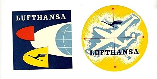 (2 Lufthansa Luggage Labels German Airlines)