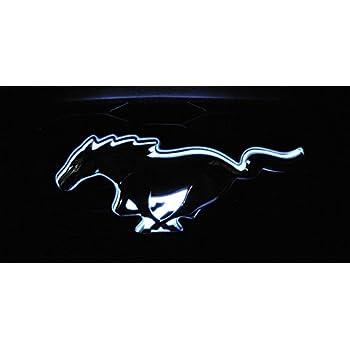 Gooogo MU-LED Mustang Running Horse LED Light Car Front Grille Badge Illuminated Decal