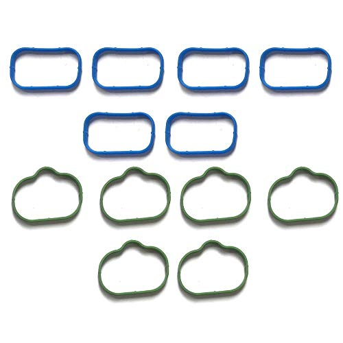 MS97204 Intake Manifold Upper Lower Gasket Set Replacement for Chrysler 200 300 Town Country Dodge Avenger Challenger Charger Durango Grand Cherokee VW 3.2 3.6L DOHC Replaces OE# 5184562AC