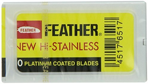 100 Ct Feather Hi-stainless Double Edge De Razor Blades New Hair Remove Made in Japan