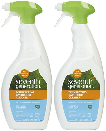 Cleaner Bathroom (Seventh Generation Disinfecting Bathroom Cleaner - Lemongrass & Citrus - 26 oz - 2 pk)
