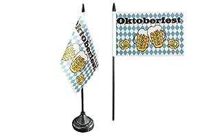 Digni Bandera de mesa de Oktoberfest Cerveza y pretzel + libre Adhesivo