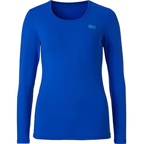 Sportkind Mädchen und Damen Tennis / Sport / Fitness Langarmshirt in kobaltblau Gr. 134