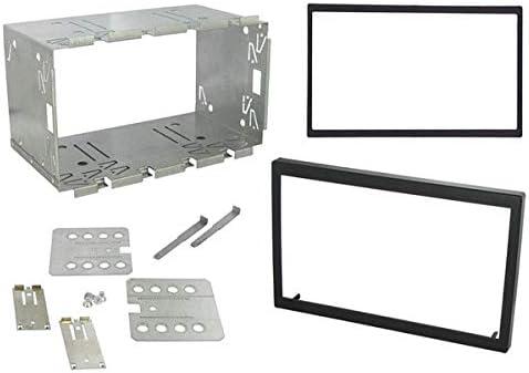 Sound-Way Kit Montaje Autoradio, Marco Metallico 2 DIN, Caja de Metal 110 mm 6.2