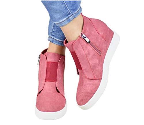 Pelle Con Ginnastica Stivaletti Zip Sneakers 34 Boots 5cm Rosa Cachi Scarpe 43 Da Donna Tacco Ankle Blu Zeppa 4 In Mocassini Eleganti O5xq45Pwr