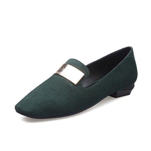 Asakuchi cuadrado grueso tacones altos zapatos de primavera/zapatos del Joker simplicidad casual estudiante C