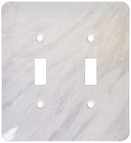 3dRose lsp_157655_2 Gray Marble Print Texture Photo Print Smooth White and Light Grey Marbled Stone Look Graphic Light Switch Cover