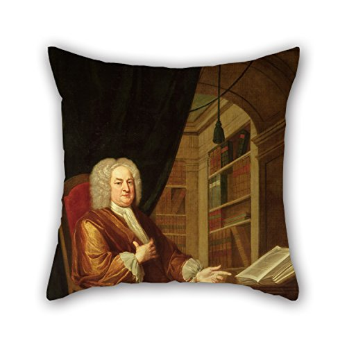 Alphadecor The Oil Painting John Smibert - Benjamin Moreland, High Master Of St. Paul's School Pillow Cases Of ,18 X 18 Inches / 45 By 45 Cm Decoration,gift For Christmas,teens Boys,kids Room,bedroo