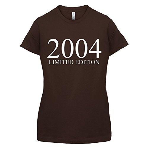 2004 Limierte Auflage / Limited Edition - 13. Geburtstag - Damen T-Shirt - Dunkles Schokobraun - L