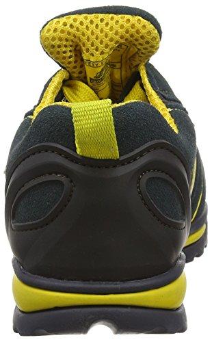Groundwork GR86 Zapatos de Seguridad de Cuero, Unisex Azul (Navy/Yellow)