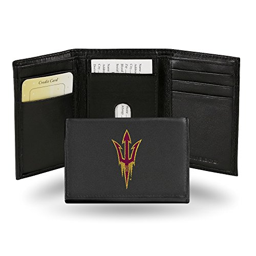 Rico Industries NCAA Arizona State Sun Devils Embroidered Leather Trifold Wallet