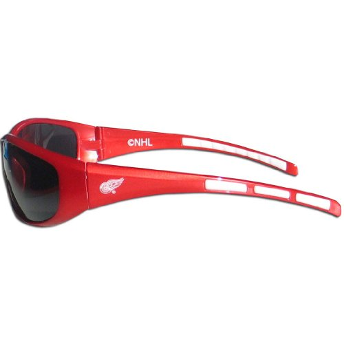 (NHL Detroit Red Wings Wrap Sunglasses)