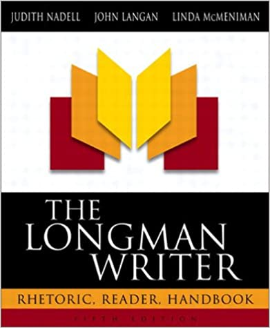 Amazon Com The Longman Writer Rhetoric Reader Handbook 5th