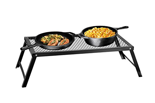mpfire Grill Stand with Folding Legs, 22 in x 12 in, for Use Over Open Fire (Medium) ()