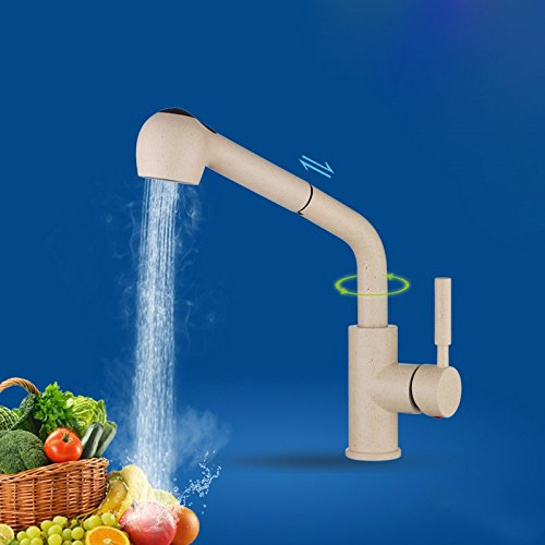(Dayanand Kitchen Faucet Touchless High Pulldown Kitchen Faucet Pull kitchen faucet rain water to wash dishes open basin mixer lift to lift the dragon head)