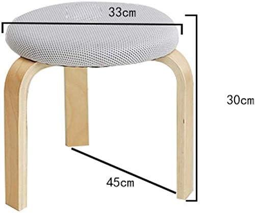 A/N Tabouret en Tissu Tabouret-Tabouret en Bois Massif Maison Sac Souple Mode Table à Manger Tabouret Haut Conseil Adulte Simple Moderne Petite Chaise