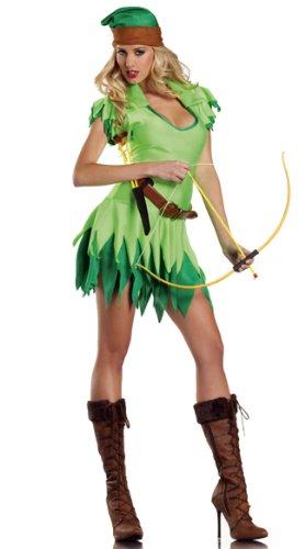 Female Peter Pan Costume (LOSTSS Costumes Halloween Cosplay Women Peter Pan Robin Hood Costume)
