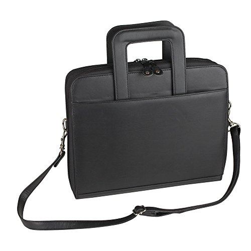 NuFazes Retractable Handle with Zippered File Divider Briefcase Portfolio (Organizer)