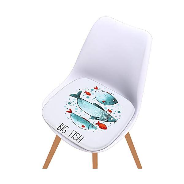 WDOIT - Cuscino per Sedia, particolarmente Imbottito, per mobili in Rattan, da Giardino, Stile 4, 40 * 40cm 7 spesavip