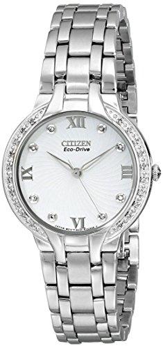 Citizen EM0120 58A Stainless Diamond Eco Drive